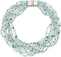 Estate Jewelry:Necklaces, Aquamarine, Tanzanite, White Gold Necklace. ...