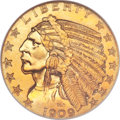 Proof Indian Half Eagles, 1909 $5 PR66 NGC. CAC....