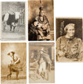 Advertising:Paper Items, Geronimo et al: Western Theme Cards. ... (Total: 5 Items)