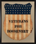 Political:Posters & Broadsides (1896-present), Theodore Roosevelt: Framed Campaign Shield....