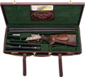 Long Guns:Other, Ornate gold-inlaid Krieghoff Neptun-Primus Drilling in 12 gauge and30/06 calibers. . ...