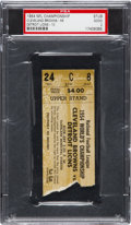 Football Collectibles:Tickets, 1954 NFL Championship Game Browns vs. Lions Ticket Stub PSA Good 2....
