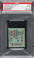 Football Collectibles:Tickets, 1956 NFL Championship Game Giants Vs. Bears Ticket Stub PSA NM-MT 8 - Highest Graded!...