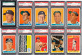 Baseball Cards:Lots, 1958 Topps New York Yankees Graded Team Set (34) With Two YellowLetter Variations. ...