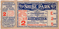 Baseball Collectibles:Tickets, 1930 World Series Game Two Ticket Stub - Athletics vs. Cardinals....