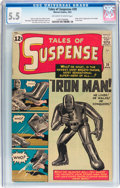 Silver Age (1956-1969):Superhero, Tales of Suspense #39 (Marvel, 1963) CGC FN- 5.5 Off-white to whitepages....
