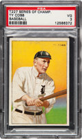 Baseball Cards:Singles (Pre-1930), 1912 T227 Miners Extra Ty Cobb PSA VG 3....