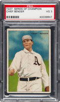 Baseball Cards:Singles (Pre-1930), 1912 T227 Miners Extra Chief Bender PSA VG 3....