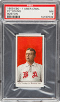 Baseball Cards:Singles (Pre-1930), 1909-11 E90-1 American Caramel Cy Young/Boston PSA NM 7 - The Highest Graded Example! ...