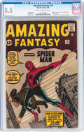 Silver Age (1956-1969):Superhero, Amazing Fantasy #15 (Marvel, 1962) CGC FN- 5.5 Cream to off-whitepages....