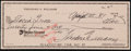 Baseball Collectibles:Others, 1989 Ted Williams Signed Check....