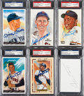 Baseball Collectibles:Others, 1981-90 Collection of Signed Hall of Fame Postcards Lot of 6. ...