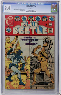 Blue Beetle #5 (Charlton, 1968) CGC NM 9.4 White pages