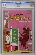 Bronze Age (1970-1979):Cartoon Character, Scooby Doo, Where Are You? #1 (Charlton, 1975) CGC NM 9.4 Whitepages....