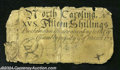 Colonial Notes:North Carolina, North Carolina March 9, 1754 15s Very Fine....