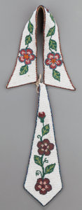 American Indian Art:Beadwork and Quillwork, A PLATEAU BEADED HIDE NECKTIE...