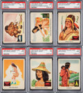Non-Sport Cards:Sets, 1959 Fleer Indian High Grade Complete Set (80). ...
