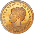 Proof Four Dollar Gold Pieces, 1880 $4 Coiled Hair, Judd-1660, Pollock-1860, Low R.7, PR67 NGC.CAC....