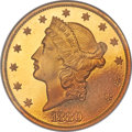 Proof Liberty Double Eagles, 1880 $20 PR65 Cameo NGC....