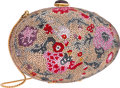 "Luxury Accessories:Accessories, Judith Leiber Full Bead Multicolor Crystal Egg Minaudiere EveningBag . Very Good to Excellent Condition . 6"" Width x..."