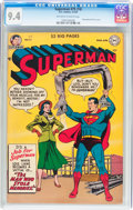 Golden Age (1938-1955):Superhero, Superman #75 (#74) Cover Error Variant - Williamsport pedigree (DC, 1952) CGC NM 9.4 Off-white to white pages....