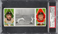 Baseball Cards:Singles (Pre-1930), 1912 T202 Hassan Fast Work At Third Cobb/O'Leary PSA NM-MT8.... (Total: 195 item)