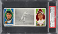 Baseball Cards:Singles (Pre-1930), 1912 T202 Hassan Ford Putting Over A Splitter Ford/SweeneyPSA NM-MT 8 - Highest Graded Example!...