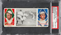 Baseball Cards:Singles (Pre-1930), 1912 T202 Hassan Baker Gets His Man Baker/Collins PSA NM-MT8 - Pop Three, None Higher....