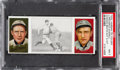 Baseball Cards:Singles (Pre-1930), 1912 T202 Hassan Chance Beats Out A Hit Archer/Overall PSANM 7. ...