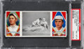 Baseball Cards:Singles (Pre-1930), 1912 T202 Hassan Close At Third Speaker/Wood PSA NM-MT 8 -Pop Three, None Higher. ...