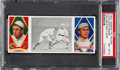 Baseball Cards:Singles (Pre-1930), 1912 T202 Hassan Collins Easily Safe Baker/Collins PSA NM-MT8 - Pop Four, None Higher. ...