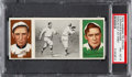 Baseball Cards:Singles (Pre-1930), 1912 T202 Hassan Donlin Out At First Dooin/Magee PSA NM-MT8....