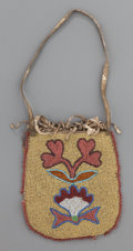American Indian Art:Beadwork and Quillwork, A PLATEAU BEADED HIDE POUCH...