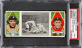 Baseball Cards:Singles (Pre-1930), 1912 T202 Hassan Desperate Slide For Third Cobb/O'Leary PSANM 7....