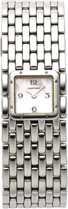 Estate Jewelry:Watches, Cartier Lady's Panthere Ruban Stainless Steel Wristwatch. ...