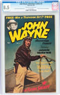 Golden Age (1938-1955):Adventure, John Wayne Adventure Comics #3 (Toby Publishing, 1950) CGC VF+ 8.5 Off-white to white pages....