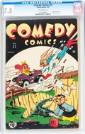 Golden Age (1938-1955):Funny Animal, Comedy Comics #22 (Timely, 1944) CGC VF- 7.5 Off-white pages....