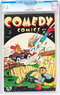 Comedy Comics #22 (Timely, 1944) CGC VF- 7.5 Off-white pages