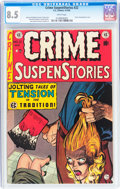 Golden Age (1938-1955):Crime, Crime SuspenStories #22 (EC, 1954) CGC VF+ 8.5 White pages....