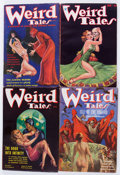 Pulps:Horror, Weird Tales Group of 4 (Popular Fiction, 1933-36) Condition:Average FN-.... (Total: 4 Items)