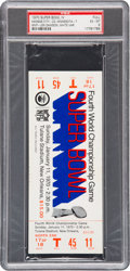 Football Collectibles:Tickets, 1970 Super Bowl IV Full Ticket PSA EX-MT 6 - White Variation. ...
