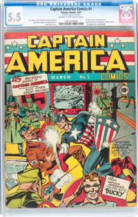 Captain America Comics #1 (Timely, 1941) CGC FN- 5.5 Cream to off-white pages