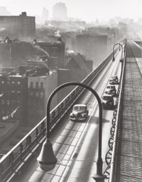 HAROLD ROTH (American, 1918-2001) Williamsburg Bridge, 1947 Gelatin silver, 1997 13-1/2 x 10-1/2