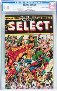All Select Comics #4 Mile High pedigree (Timely, 1944) CGC NM 9.4 White pages