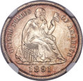 Seated Dimes, 1891-O 10C MS66 ★ NGC. Fortin-Unlisted....