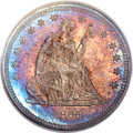 Proof Seated Quarters, 1865 25C PR66 PCGS. CAC....