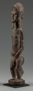 Paintings, BAULE MALE FIGURE. (COTE D'IVOIRE, WESTERN AFRICA). ...