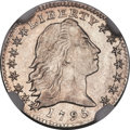 Early Half Dimes, 1795 H10C V-3, LM-4, R.6 -- Improperly Cleaned -- NGC Details.Unc....