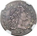 Early Half Dimes, 1795 H10C V-7, LM-6, R.6 -- Improperly Cleaned -- NGC Details.AU....