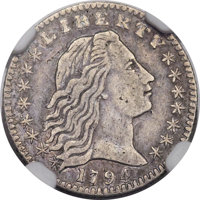1794 H10C V-3, LM-3, R.4 -- Improperly Cleaned -- NGC Details. XF....(PCGS# 38583)